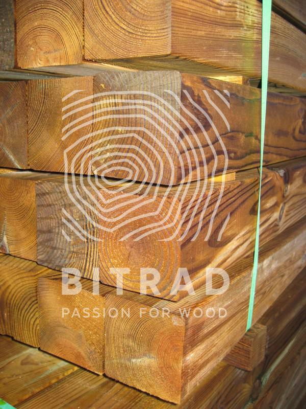Bois raboté en pin autoclave classe 4. PPHU Bitrad