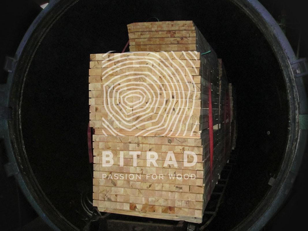 Bois traité autoclave pour aménagement d'extérieu. Bitrad